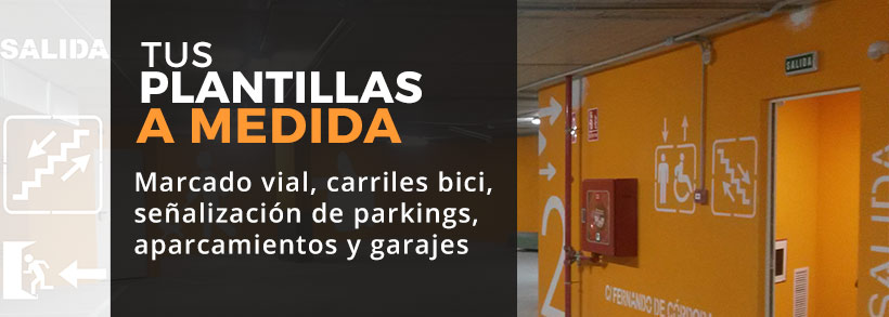 Plantillas señalizar Parkings