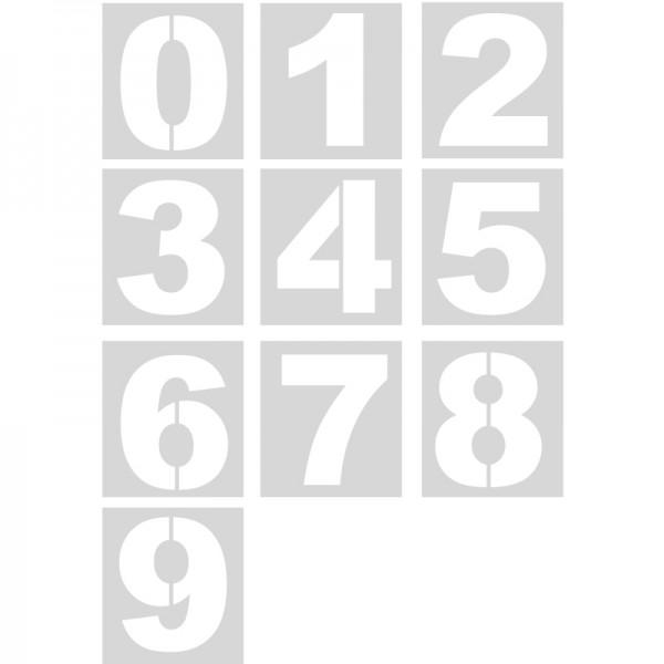 Plantillas números (unidad) Pol 50cm polipropileno, pvc, aluminio o ...