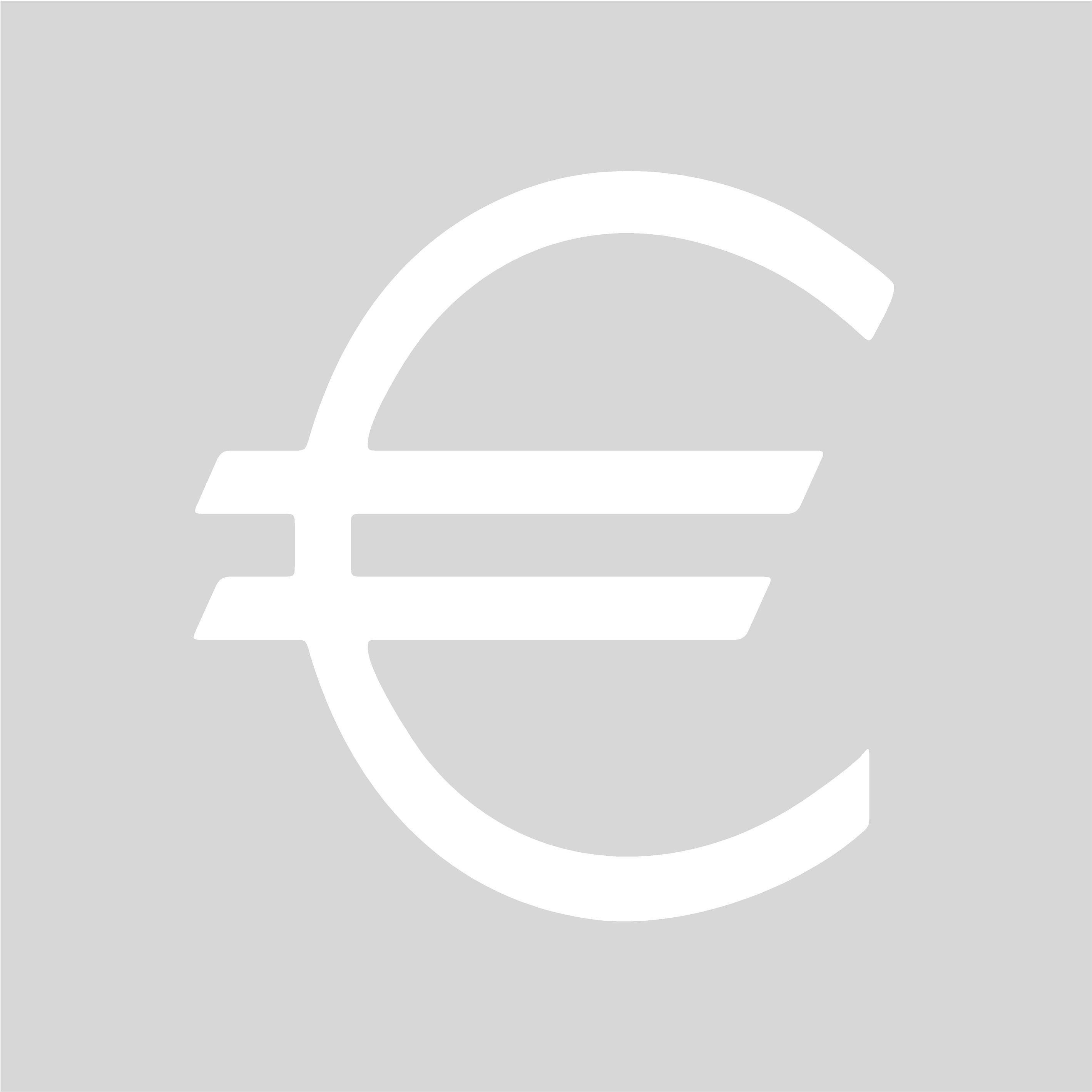 Plantilla para pintar signo EURO (€) en suelo o ...