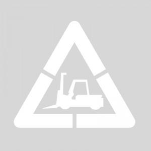 Pack Plantilla pintar señal advertencia peligro paso de carretillas (1 pieza) L