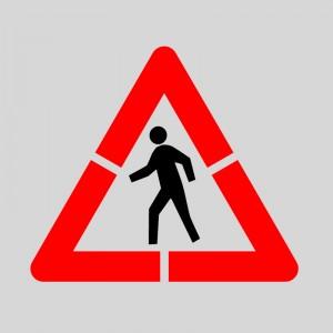 Pack Plantilla pintar señal advertencia peligro paso de peatones (2 piezas) XL