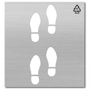pintar señal huellas zapatos-100x50 cm-Aluminio