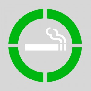 Pack 2 plantillas pintar señal área permitido fumar varios colores