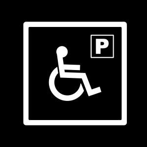 Alfombra educación vial  reserva discapacitados