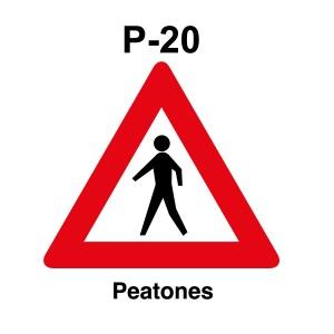 Señal de circulación Paso Peatones