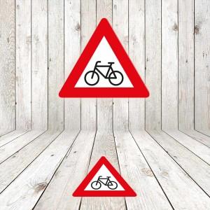 Vinilo señalización adhesivo señal tráfico Peligro Ciclistas