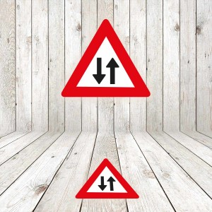 Vinilo señalización adhesivo señal tráfico Peligro circulación en los dos sentidos
