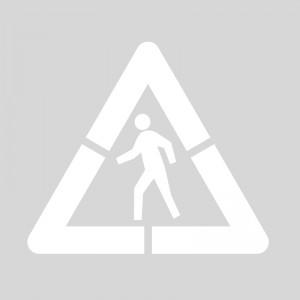 Plantilla pintar señal advertencia peligro paso de peatones (1 pieza) XL