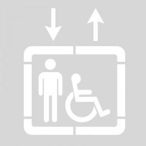 Plantilla pintar señal acceso ascensor discapacitados parking