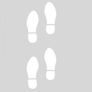 Plantilla pintar señal 4 huellas zapatos