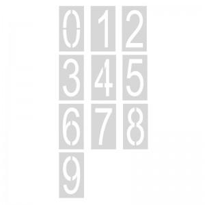Pack 10 plantillas números 70 cm señalización parking