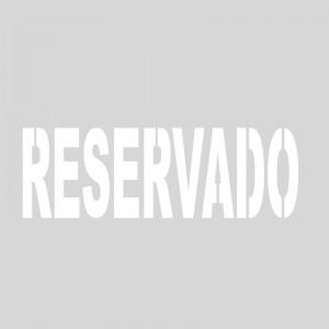 Plantilla pintar señal RESERVADO M