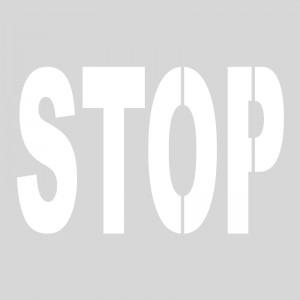 Plantilla pintar STOP (una pieza)