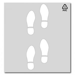 Plantilla pintar señal huellas zapatos-100x50 cm-Pvc