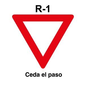 Señal de circulación R1 Ceda el paso
