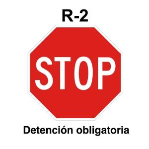 Señal de circulación R2 STOP Parking