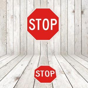 Vinilo señalización adhesivo señal tráfico R2 STOP