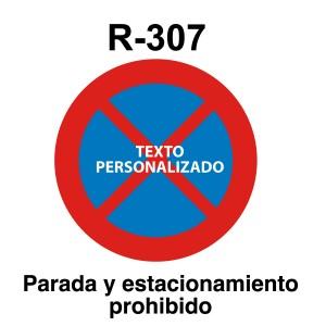 Señal de circulación R307 Parada o Estacionamiento prohibido