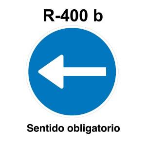 Señal de circulación R400a Sentido Obligatorio izquierda