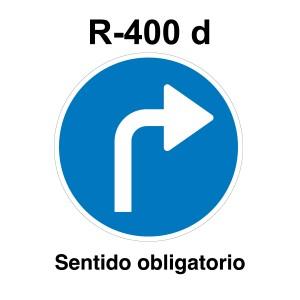 Señal de circulación R400d Sentido Obligatorio