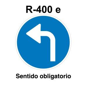Señal de circulación R400e Sentido Obligatorio