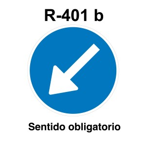 Señal de circulación R401b Sentido Obligatorio