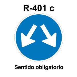 Señal de circulación R401c Sentido Obligatorio