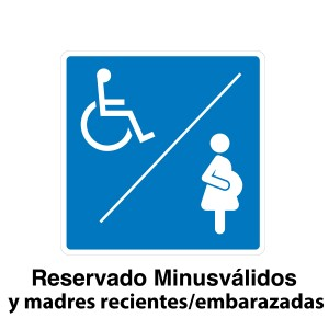 Señal de circulación Reserva minusválidos/embarazadas