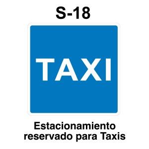 Señal de circulación S18 Estacionamiento reservado para Taxis