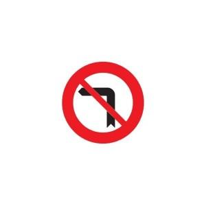 Señal para Educación Vial - Prohibido giro izquierda