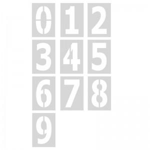 Pack 10 plantillas números 120 cm para pintar en pared y suelos