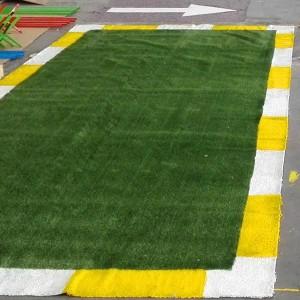 Tapiz césped artificial  verde  100 x 500 cm
