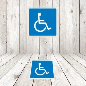 Vinilo Señal de circulación Reservado Minusválidos / Discapacitados
