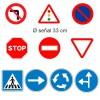 Pack 10 señales Circuito Escolar Educación Vial con picas y base de metal