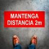 Mantenga distancia de 2 metros