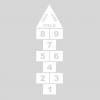 Plantilla pintar juego tradicional RAYUELA 1 ó 3 aspas Números-cielo-sky-cie