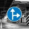 Señal de circulación R403a Únicas direcciones permitidas