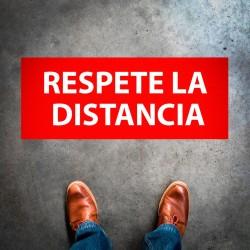 """Plantilla pintar señal """"Respete la distancia"""""""
