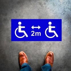 Plantilla pintar señal 2 metros entre personas con discapacidad (Default)