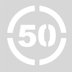 Plantilla límite de velocidad 50