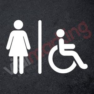 Plantilla pintar señalética aseo/wc accesible mujeres