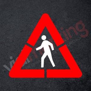 Pack Plantilla pintar señal advertencia peligro paso de peatones (2 piezas) L