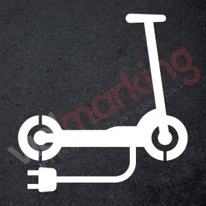 Plantilla pintar señal aparcamiento patinetes eléctricos