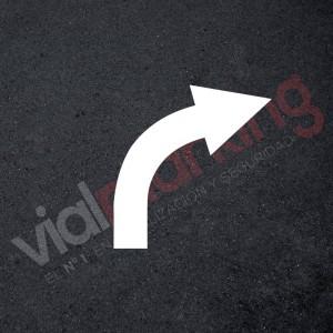 Plantilla rotulación parking flecha dirección única derecha