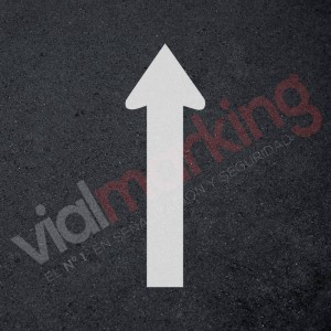 Plantilla rotulación parking flecha dirección única de frente