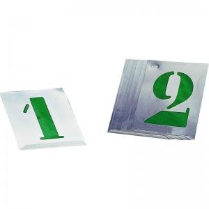 """Kit 10 Plantillas metálicas números """"0-9"""""""
