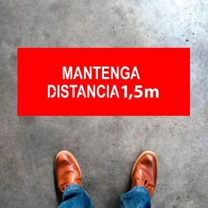 "Plantilla pintar señal ""Mantenga distancia 1,5 m"