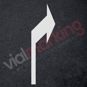 Plantilla flecha normativa direccional derecha