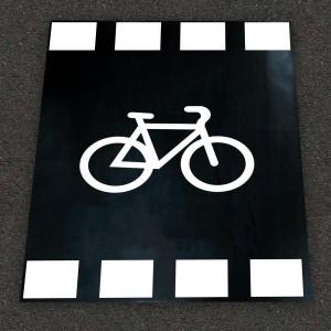 Alfombra marca vial Paso de Carril Bici Educación Vial
