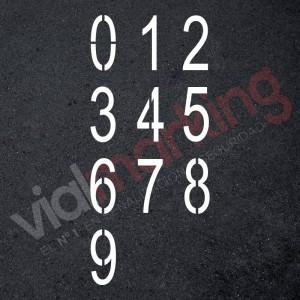 Plantillas números sueltos 0-9 de 120 cm señalización parking